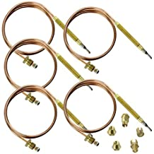 Spares2go Universal Thermocouple Kit & Fixings (600mm, Pack of 5)