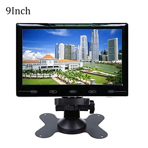 Haihuic 9-Zoll-LCD-Monitor HD 800x480 Digital-TFT-Farbbildschirm HDMI/VGA/AV-Eingang Car PC Monitor für Auto Rückansicht, CCTV, Home Security mit Fernbedienung