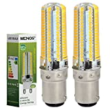 MENGS® 2 Stück B15D LED Lampe 7W AC 220-240V Warmweiß 3000K 152x3014 SMD Mit Silikon Mantel