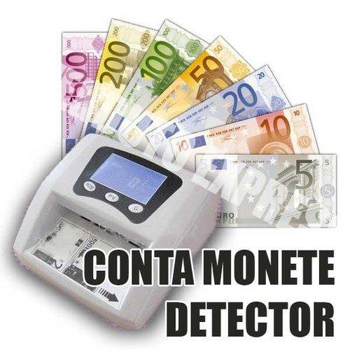 CONTA MONETE DETECTOR MONEY BANCONOTE RILEVATORE SOLDI FALSI EURO 450611