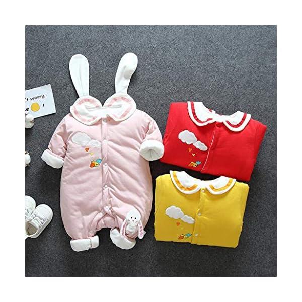 Felpa Conejo Recién Nacido Mono Invierno Moda Niñito Bebé Niños niñas Calentar Mameluco Solapa Encantadora Mono… 2
