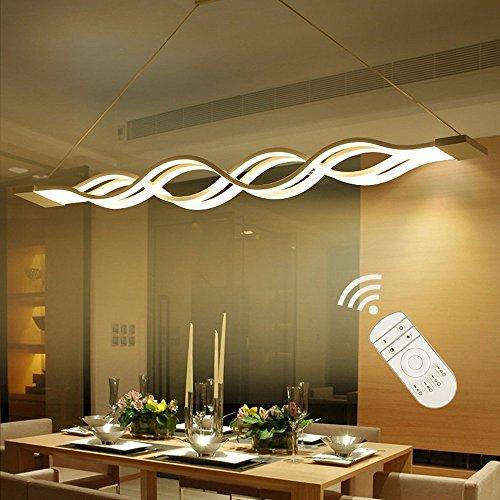 Lampadari,Lampadario LED,Moderna Lampada a sospensione regolabile,LIUSUN LIULU 60W LED Lampadari a soffitto,3000K-6000K,Dimmerabile