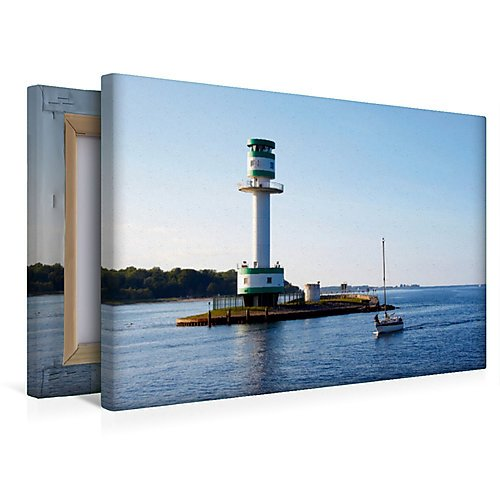 Calvendo Premium Textil-Leinwand 45 x 30 cm Quer-Format Leuchtturm Kiel-Friedrichsort   Wandbild, HD-Bild auf Keilrahmen, Fertigbild auf hochwertigem Vlies, Leinwanddruck von Veronika Rix