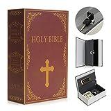 SAFETYON vintage Buchtresor mit Schlüssel, versteckter Buch Geldkassette...