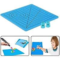Almohadilla Pluma Silicona 3D, Impresión 3D Pluma Almohadilla, Almohadilla de Silicona Modelo de Dibujo de Pluma de Impresión 3D Viene Con 2 Protectores de Dedos Para Niños Y Principiantes.