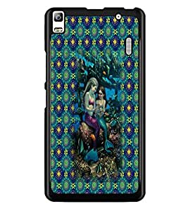 PrintDhaba Mermaids D-5703 Back Case Cover for LENOVO A7000 PLUS (Multi-Coloured)