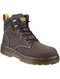 627b797a6 Dr. Martens Mens Safety Work Boots Steel Toe Leather Aireware Lace up Shoes  (UK8