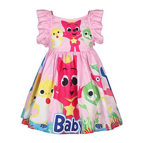 LQSZ Mädchen Kleid Baby Hai Thema Party Sommerkleid Geschenk Für Kinder