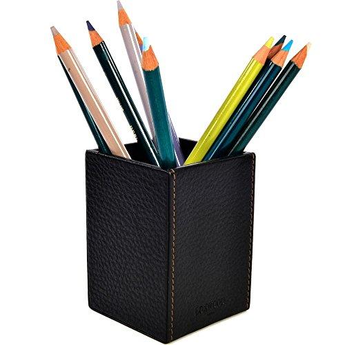 Pot à Crayon Cuir grainé Noir