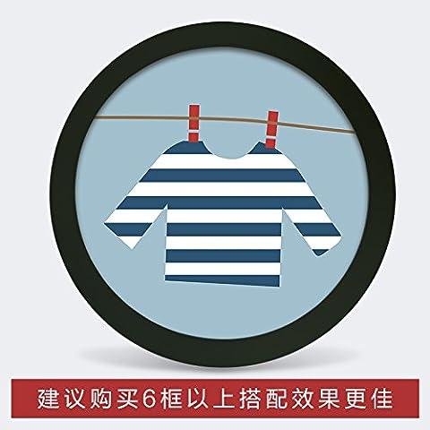 Photo Frame parete fumetto creativo cornice rotonda famiglia soggiorno camera da letto TV decorazioni a parete immagine di sfondo frame , piccolo cerchio bianco (diametro) ,4 19cm