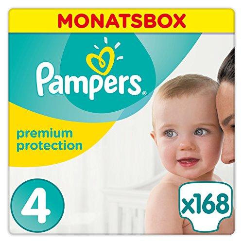 Preisvergleich Produktbild Pampers Premium Protection Windeln, Gr.4 Maxi, 9-14kg, Monatsbox, 1er Pack (1 x 168 Stück)