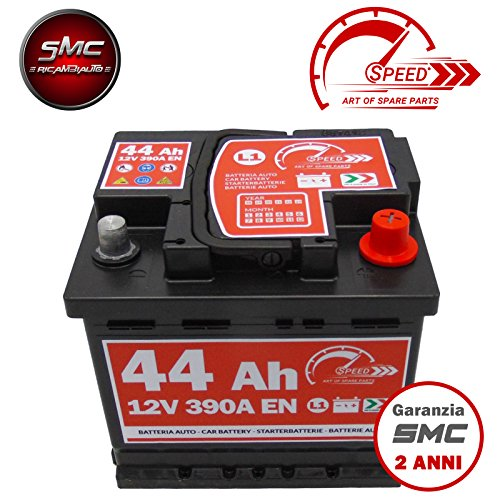 BATTERIA AUTO SPEED BY SMC cod L144 44Ah 390A Polo Positivo a Destra 12V