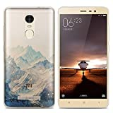 Xiaomi Redmi Note 3 Pro Prime Special Edition case, Heyqie(TM) Thin Transparent TPU Silicone Mountain Landscape Pattern Soft Back Phone Cover Case For Xiaomi Redmi Note 3 Pro Prime SE 152 mm