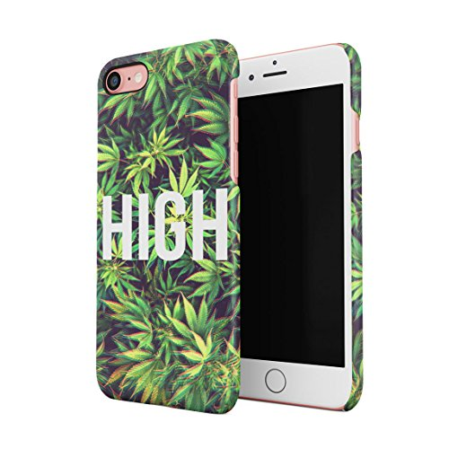 Chill Trippy Cannabis Leaves Pattern Dünne Rückschale aus Hartplastik für iPhone 7 & iPhone 8 Handy Hülle Schutzhülle Slim Fit Case cover Trippy High