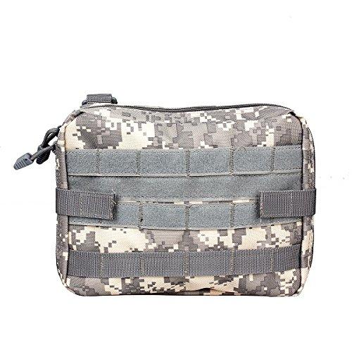 Borsello tattico porta-accessori, borsa extra grande, con cinghia per macchina fotografica, alloggiamenti per accessori di primo soccorso, borsa portaoggetti in nylon