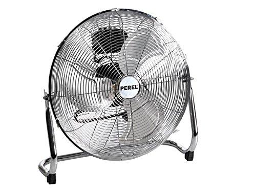 Perel CFANF45N Ventilateur brasseur d'air au sol, en métal, diamètre du ventilateur 45cm, hauteur 54,5cm, 220-240V AC, 50Hz, 140W