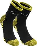 normani 6 Paar Kurzschaft Funktionssocken mit verstärkter Frotteesohle und elastischem Komfortbund Farbe Schwarz/Gelb Größe 39/42