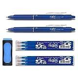 Tintenroller FriXion Clicker 0,7, Schaft blau, Strichstärke 0.4mm, blau