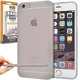 Orzly - FlexiSlim Coque Souple pour Apple iPhone 6 PLUS & 6S PLUS (2014 & 2015 Versions de 5.5 Pouces Modèle) - Super Fine Case (0,35 mm) - Semi Transparente BLANC