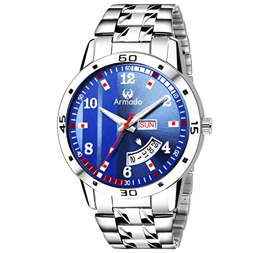 Armado Day and Date Exclusive Analogue Men\'s Watch(Blue Dial, AR-104-BLU)
