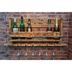 Weinregal aus Holz