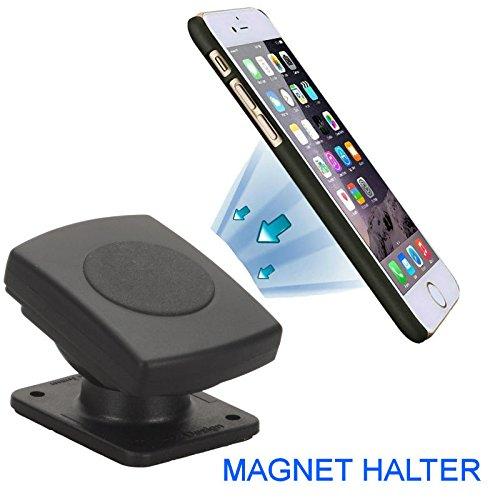 AP-M - Magnetische Smartphonehalterung Magnet Halter für iPhone 4 5 6 7 8 X XS Xr X max Samsung Galaxy S3 S4 S5 S6 S7 S7 S8 S9 Honor 6 7 8 HTC Nokia Huawei usw 4210 Gps
