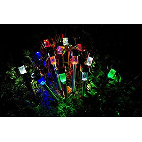 YRZT Plastica luce controllo Pin LED lampada solare del prato inglese Lights(4pcs)
