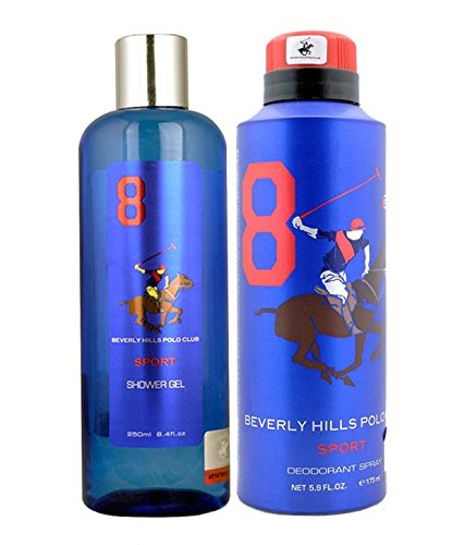 beverly hills polo club gift set 8 for men (deodorant and body wash) Beverly Hills Polo Club Gift Set 8 for Men (Deodorant and Body Wash) 51nFUjFuE6L