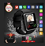 Montre Connectée Enfant Homme, Sport Montre Connectée Smartwatch Android Bluetooth Podomètre Montre Sommeil Fitness pour Iphone Samsung Ios Huawei Carte Sim Soutien Carte TF Caméra(Q18)