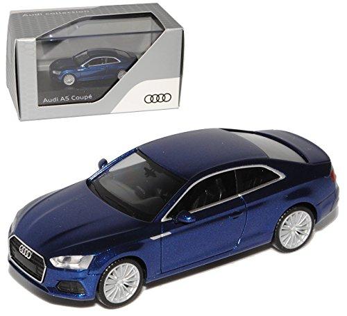 Preisvergleich Produktbild Audi A5 II Coupe Scuba Blau 2. Generation Ab 2016 H0 1/87 Herpa Modell Auto mit individiuellem Wunschkennzeichen