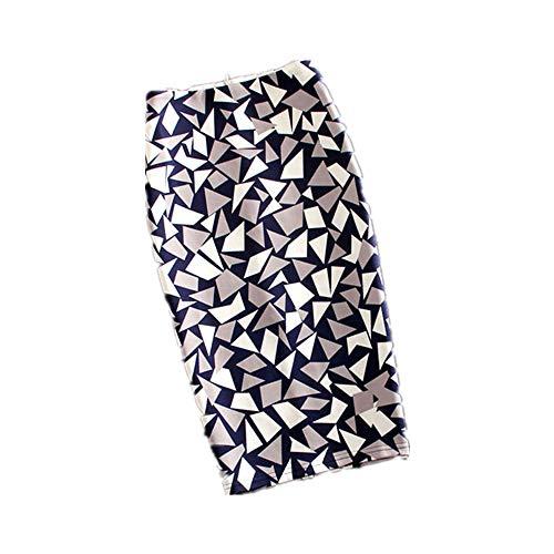 Seide / Baumwolle-bleistift-rock (Frauen Röcke Casual Print Blumen Bleistift Rock Stretchy Röcke Plus Size 22Colors)