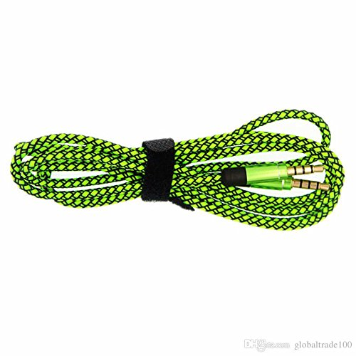SPAM Fabric Woven Braided 3.5mm to 3.5mm Universal AUX TangleFree Auxiliary Cable for Car Stereo,Mobile Phones,CD,MP3,DVD,MP4 Players 1.5m Long Colorful Tangle Free. Compatible with Samsung E370  available at amazon for Rs.199