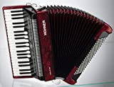 HOHNER BRAVO III 120 ROUGE Accordéon Accordéon chromatique Clavier piano