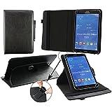 Emartbuy® Teclast P80 3G 8 Zoll Tablet PC Universal ( 7 - 8 Zoll ) Schwarz PrämiePULeder360GradrotierendeStandFolioGeldbörseTascheHülle + Schwarz Eingabestift