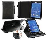 Emartbuy® Blaupunkt Polaris QC Tablet 7.85 Zoll Universal (7-8 Zoll) Schwarz PrämiePULeder360GradrotierendeStandFolioGeldbörseTascheHülle + Schwarz Eingabestift
