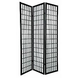 Pareti Divisorie Bianco, 3 Pannelli - 260x180cm Balcone Divisori per Privacy Uffici LARS360 Paraventi Schermo Divisorio Paravento Parete Pieghevole Divisori per Ambienti
