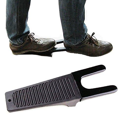 EMVANV Kofferraum-Entferner, extra griffig, Stiefel-Abzieher für Gummistiefel, Stiefel-Entferner, Stiefel, Schuhe, Wagenheber, Gummistiefel, Gartenschuhe oder Turnschuhe, Schwarz, Free Size