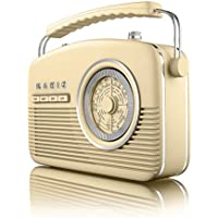 Akai A60010C Portable 4 Band Retro FM Radio, 14 W - Cream - ukpricecomparsion.eu