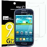 Panzerglasfolie Schutzfolie für Samsung Galaxy S3 MINI, [2 Stück] NEWC® Tempered Glass 9H Hartglas, Anti Öl, Kratzen und Fingerabdrücke Blasenfrei, HD Displayschutzfolie, 0.33mm HD Ultra-klar für Samsung Galaxy S3 MINI