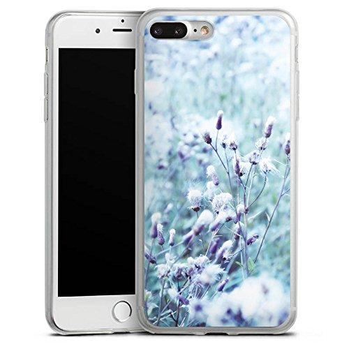 Apple iPhone 8 Slim Case Silikon Hülle Schutzhülle Wiese Blumen Natur Silikon Slim Case transparent