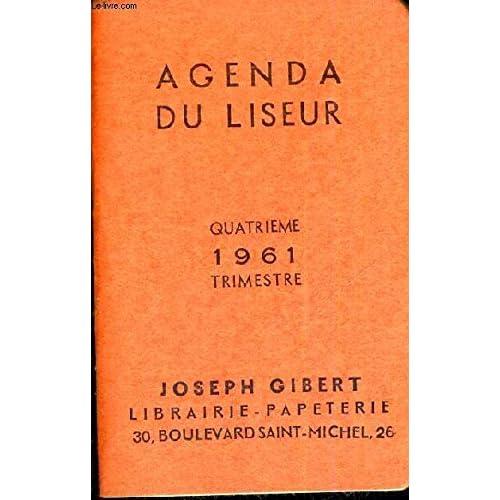 AGENDA SCOLAIRE - 1961 - QUATRIEME TRIMESTRE