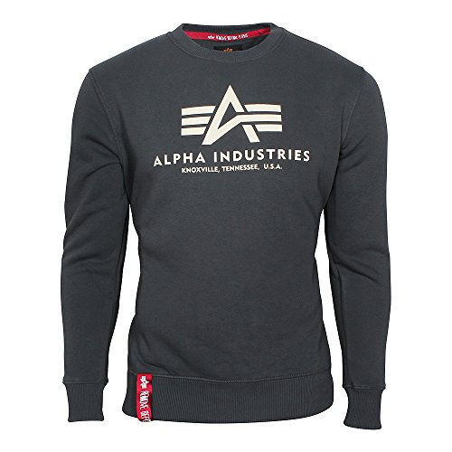 Alpha Industries Herren Pullover Basic grau L