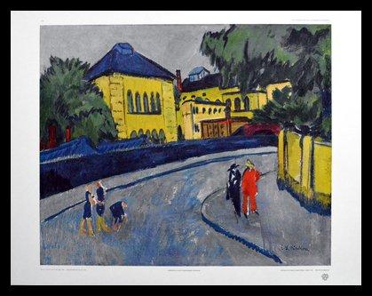 Ernst Ludwig Kirchner Dresden - Friedrichstadt, 1909 Poster Bild Kunstdruck im Alu Rahmen in schwarz 50x60cm