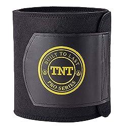 TNT Pro Series Bauchweggürtel, Hilfe Zum Abnehmen Am Bauch - Premium Bauchgürtel, Bauchtrainer, Hot Belt Als Fettverbrenner Für Bauch - Extra Breit Und 100% Latex-Frei - Größe M