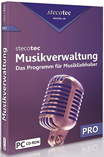 Stecotec Musikverwaltung Pro: CD- und Schallplatten-Sammlung am PC verwalten, Musikverwaltungsprogramm, Musikverwaltungssoftware, Verwaltung, Musiksammlung / Musik ordnen, sortieren & organisieren