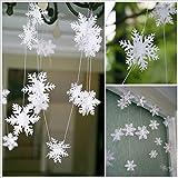 HENGSONG Weihnachtsdeko Hängegirlanden Schneeflocke Hochzeit Neujahr Party Home Zimmer Dekoration Fensterdeko Weihnachtsschmuck 1PC