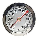 Lantelme 50 cm 500 °C Grad Grillthermometer Edelstahl Smoker...