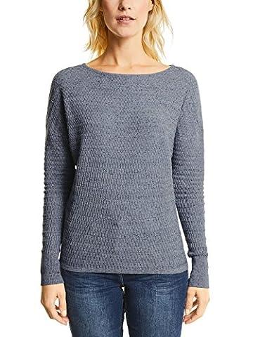 CECIL Damen Pullover 300401 Blau (Denim Heather Melange 11148), X-Large