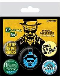 Breaking Bad Heisenberg 5-Button Paquete de Placas