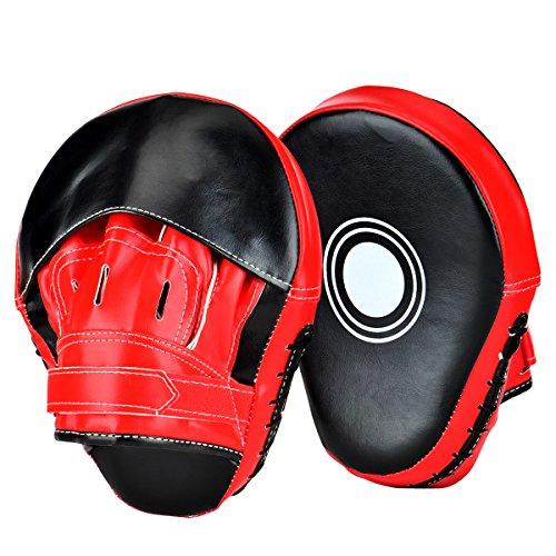 Loveiscool Pratzen Trainerpratzen Kickboxen Boxen Pratzen für Muay Thai Kickboxen Bewegung Karate Taekwondo Martial Arts - 1 Paar (Boxen-pads)